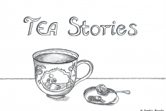 "Comic of a cup of tea with the title ""TEA Stories"" - Copyright: Annika Baacke"