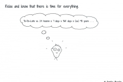 Comic figure with thought balloon about a to-do list - Copyright: Annika Baacke