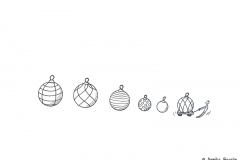 Drawing of Christmas ornaments - Copyright: Annika Baacke