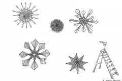 Drawing of straw stars/Christmas ornaments - Copyright: Annika Baacke