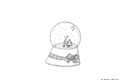 Drawing of a snow globe - Copyright: Annika Baacke